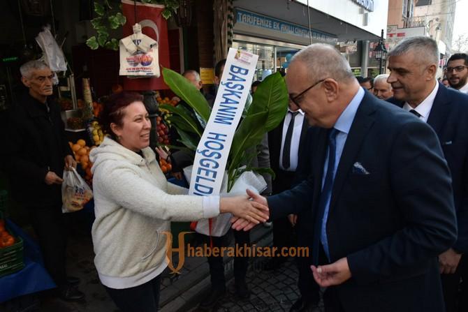Akhisar'da Başkan Ergün'e Sevgi Seli