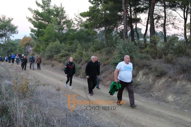 Doğa yürüyüşlerinde bu hafta rota Karaköy parkuru oldu