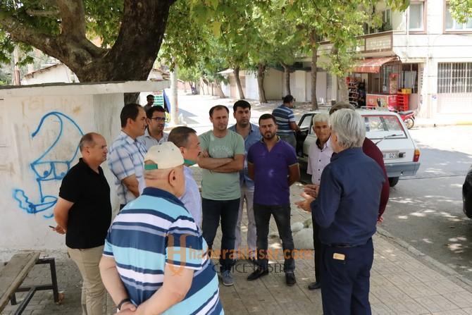 Salih Hızlı'dan Kayalıoğlu ve Mecidiye Mahallelerine ziyaret