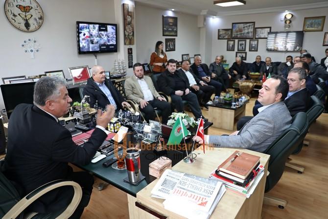 Başkan Dutlulu'dan ziraat odasına ziyaret