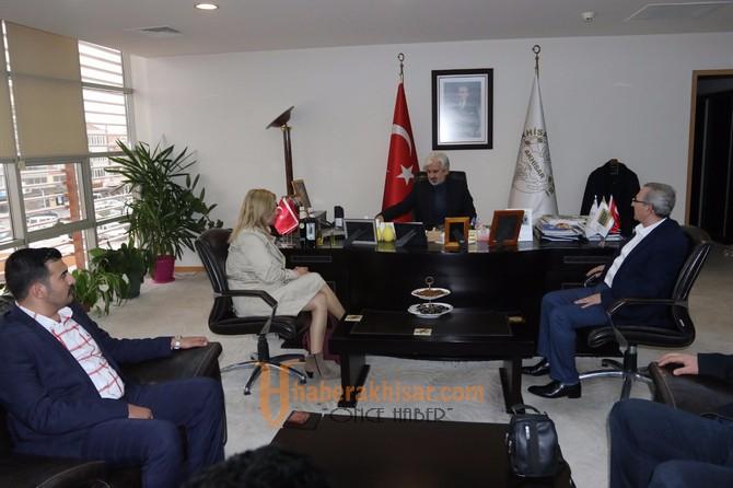 ATSO Başkan Adayı Boşnak ve Ekibinden Başkan Hızlı'ya Ziyaret