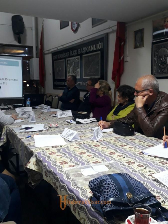 CHP İlçe Teşkilatı Sandık Örgütlenme Eğitimine Başladı