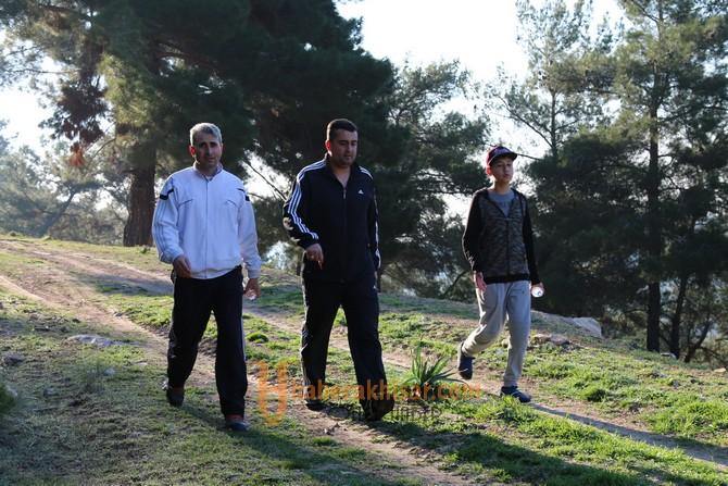 Akhisar'da doğa yürüyüşünün bu haftaki rotası Süleymanköy oldu