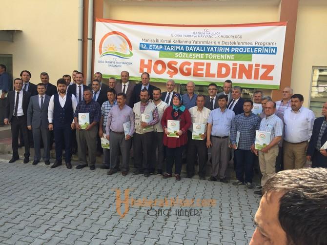 Tarıma Dayalı Yatırım Projelerinin Sözleşme Töreni Yapıldı