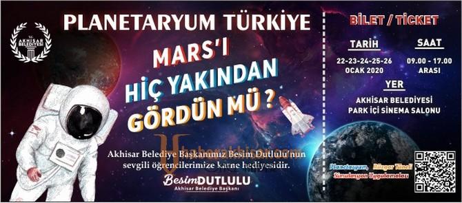 Akhisarlı Öğrenciler Planetaryum İle Gök Bilimlerini Öğrendi