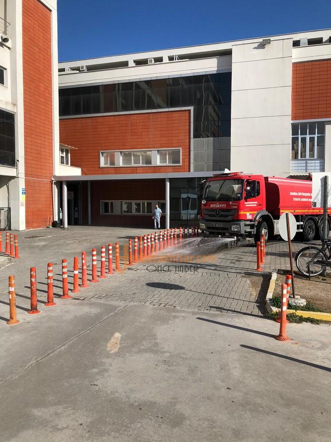 Akhisar'da Dezenfeksiyon Çalışmaları Sürüyor